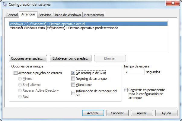 Truco para acelerar el arranque de Windows: quitar GUI | Smythsys\'s ...